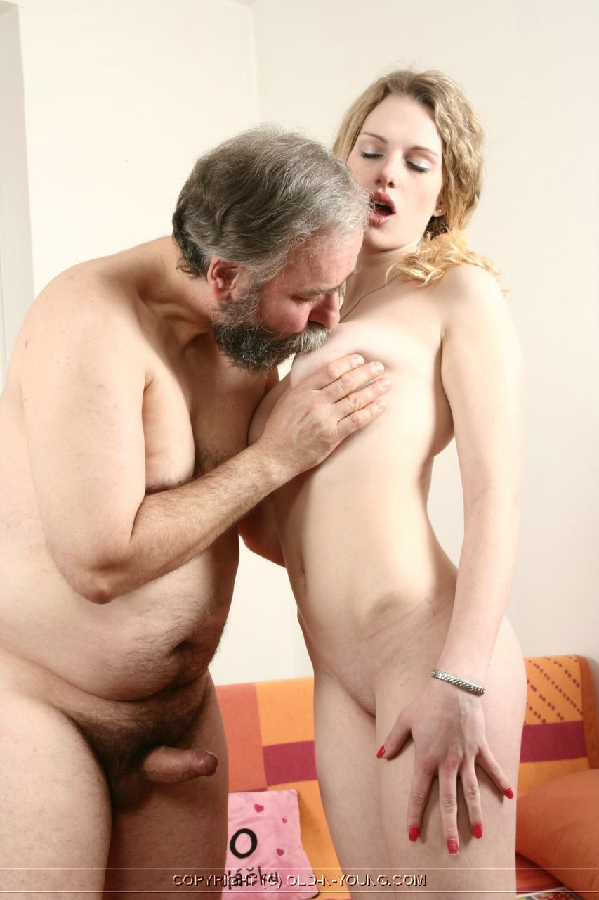 Old man and young lady porn