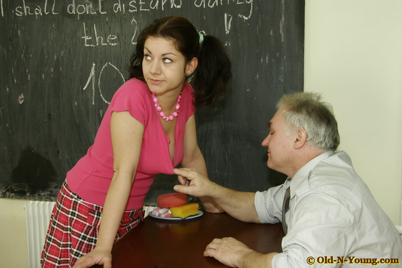 Pics young girl and teacher